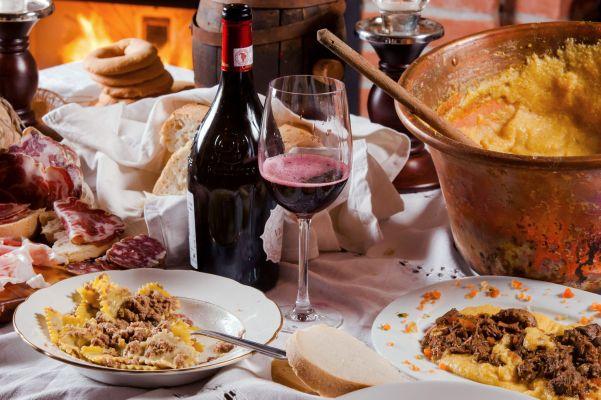 La Bonarda con ravioli e polenta