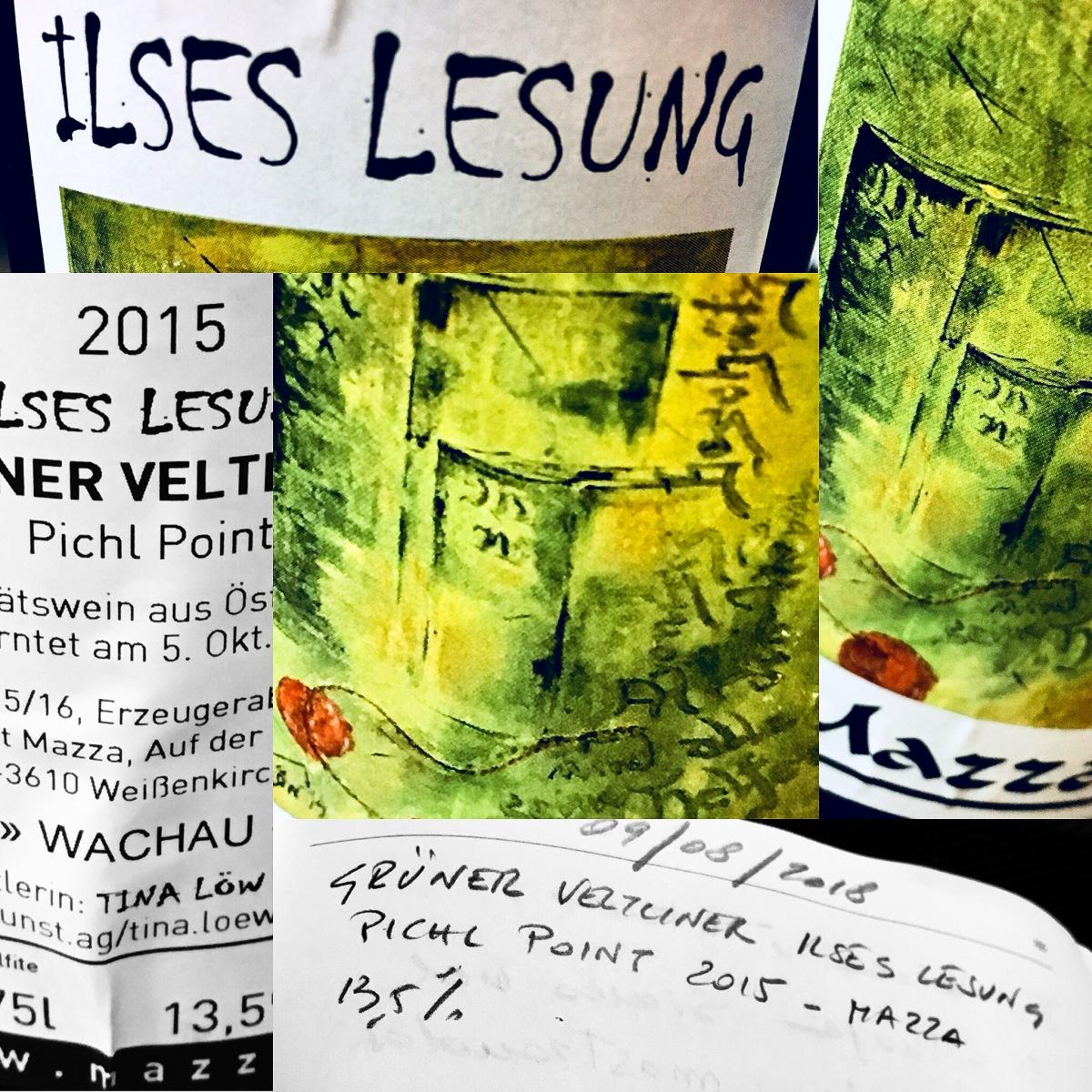 GRÜNER VELTLINER ILSES LESUNG PICHL POINT 2015 - WEINGUT MAZZA